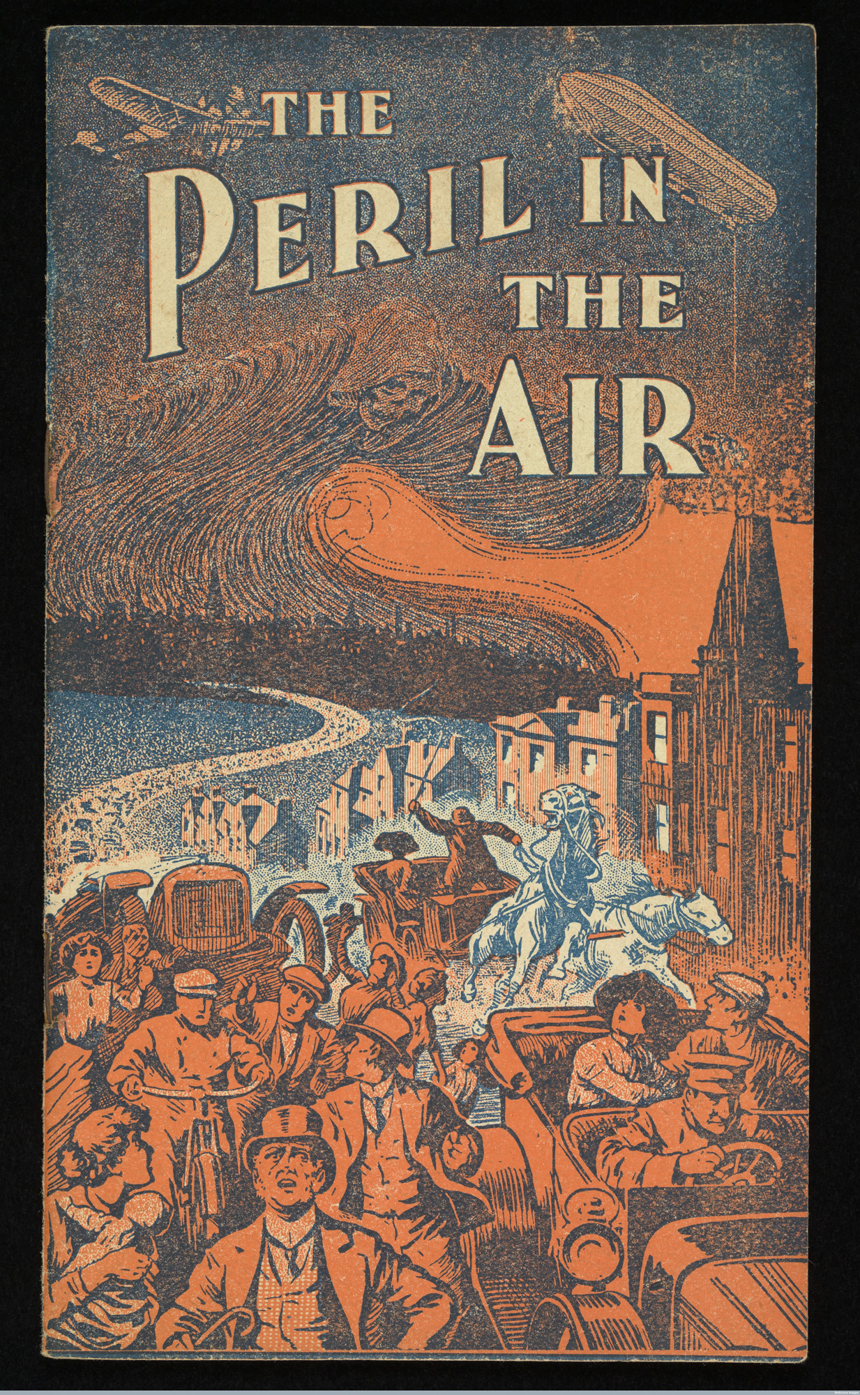 Figure 1: An advert for cough and cold tablets from 1913 captures some of the early connotations of airborne terror: cities are sites of modern ills from factory pollution to lung diseases. Credit: Wellcome Library, London, available under Creative Commons Attribution only licence CC BY 4.0